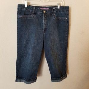 Gloria Vanderbilt Blue Jean Capri Pants Skimmer